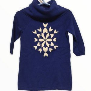 Crazy 8 Blue Snowflake Sweater Dress